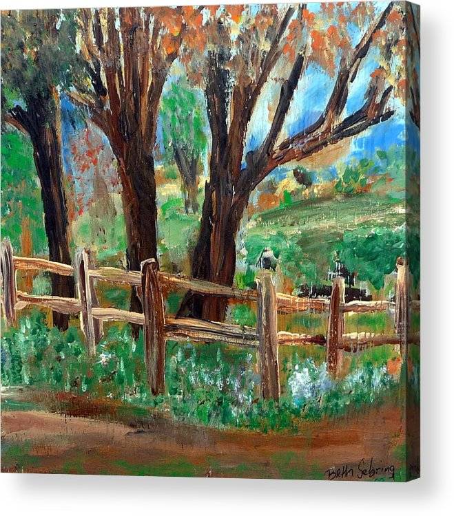 Landscape Acrylic Print featuring the painting Rt 579 by Beth Sebring