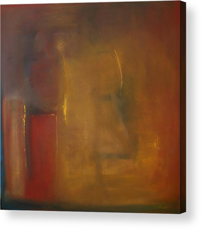 Acrylic Print featuring the painting Softly Reflecting by Jack Diamond