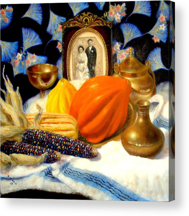 Realism Acrylic Print featuring the painting Thanksgiving Of The Past by Donelli DiMaria