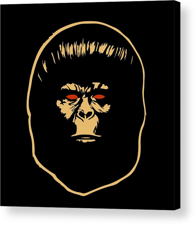 Ape Acrylic Print featuring the digital art The Ape by Jurgen Rivera