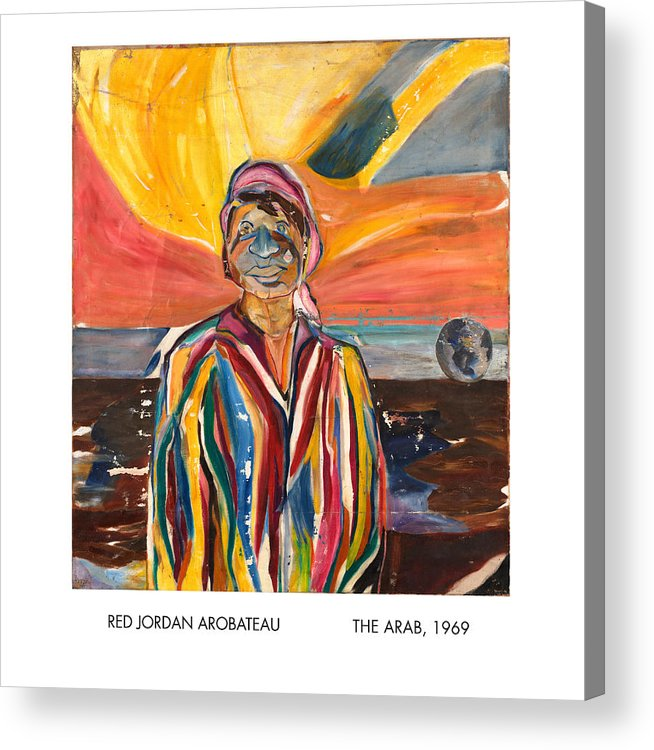 Coat-of-many-colors Acrylic Print featuring the painting The Arab by Red Jordan Arobateau