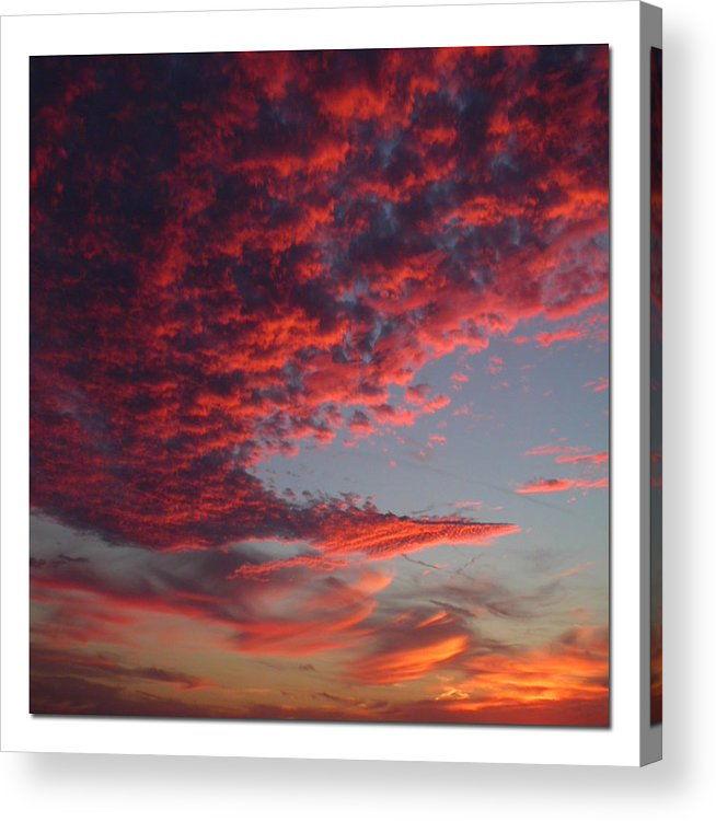 Sunset Acrylic Print featuring the photograph The Master Painter by Linda Murphy