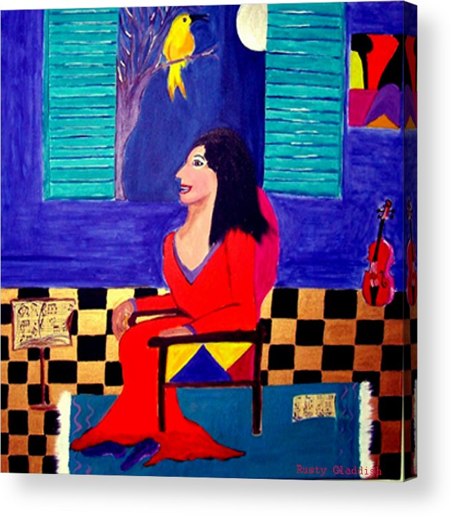 Fauvism Acrylic Print featuring the painting The Witch's Duet by Rusty Gladdish
