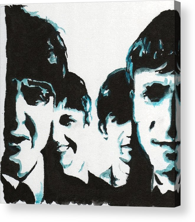 Beatles Acrylic Print featuring the painting Twist And Shout by Matt Burke