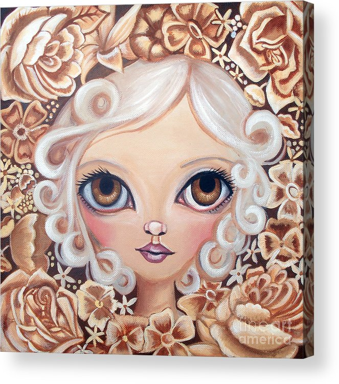 Art Acrylic Print featuring the painting Vintage Blooms by Jaz Higgins