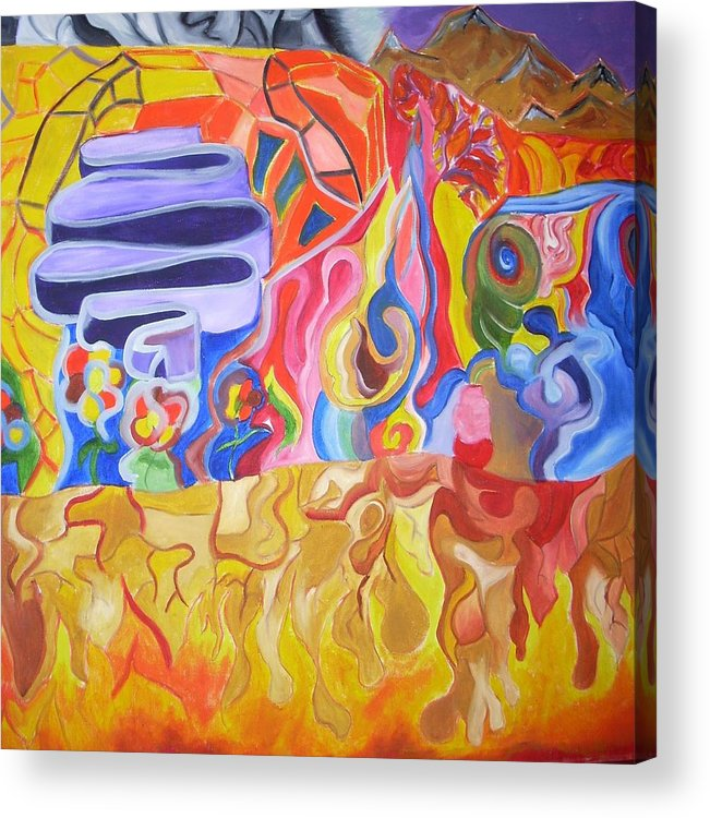 Acrylic Print featuring the painting Where by Joseph Arico