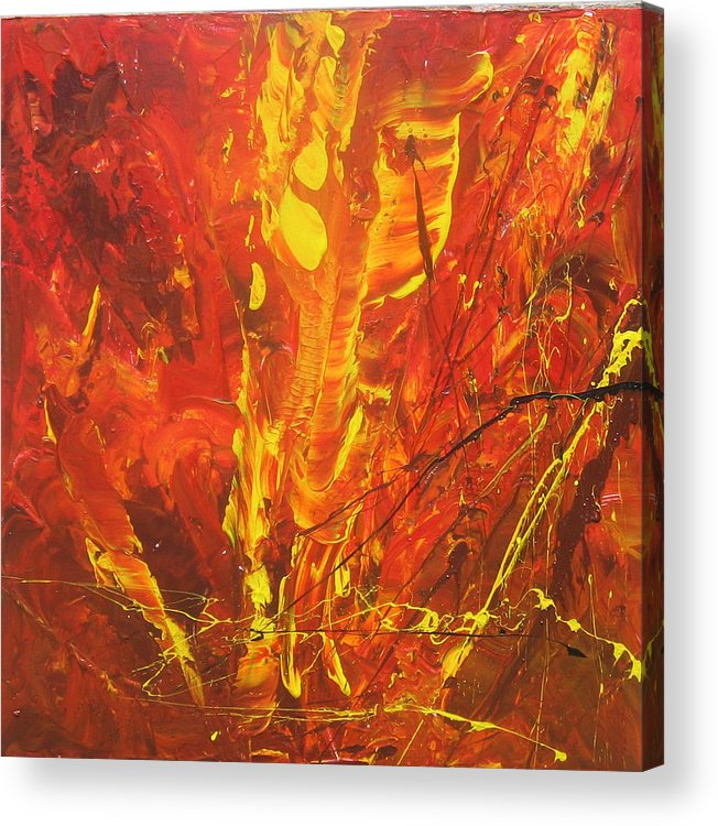 Painting Acrylic Print featuring the painting Autumn Leaves by Carrie Allbritton