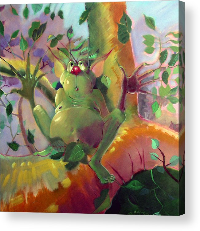 Fantasy Acrylic Print featuring the painting Treeman by Patrick McClintock