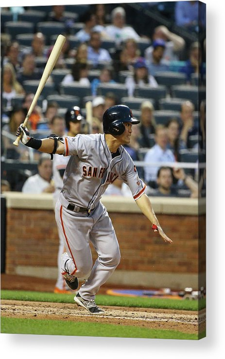 People Acrylic Print featuring the photograph San Francisco Giants V New York Mets by Al Bello