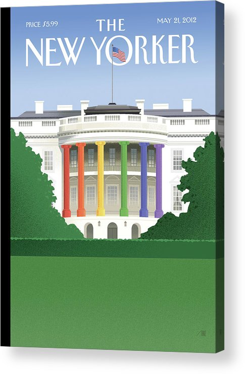 President Acrylic Print featuring the painting Spectrum of Light by Bob Staake
