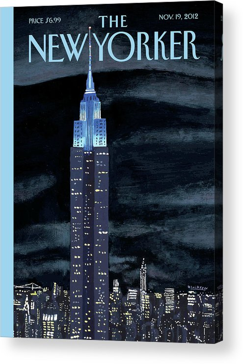 New York City Acrylic Print featuring the painting New Yorker November 19th, 2012 by Mark Ulriksen