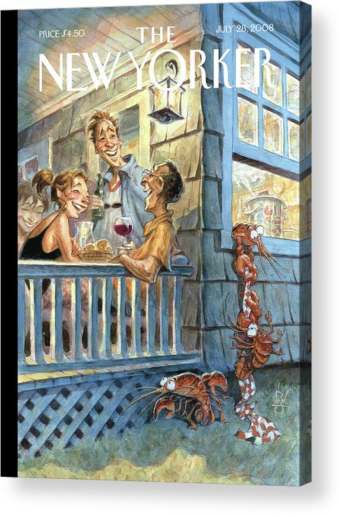 By Peter De Seve Acrylic Print featuring the painting New Yorker July 28th, 2008 by Peter de Seve