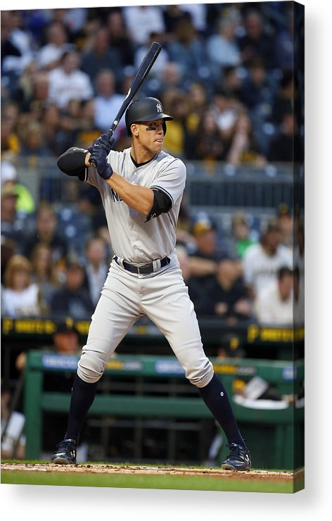 People Acrylic Print featuring the photograph New York Yankees v Pittsburgh Pirates by Justin K. Aller