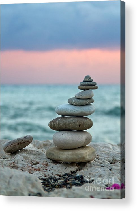 Abstract Acrylic Print featuring the photograph Zen by Stelios Kleanthous