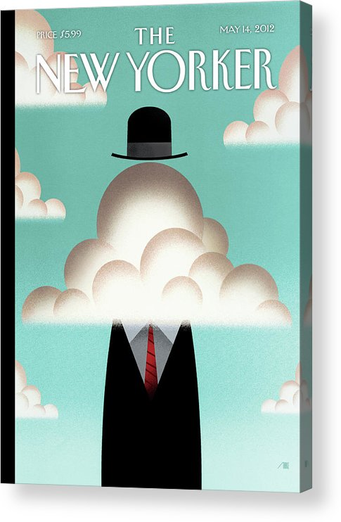 Clouds Acrylic Print featuring the painting The Cloud by Bob Staake