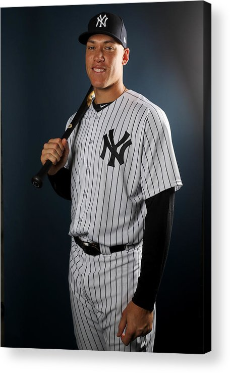 Media Day Acrylic Print featuring the photograph New York Yankees Photo Day by Elsa