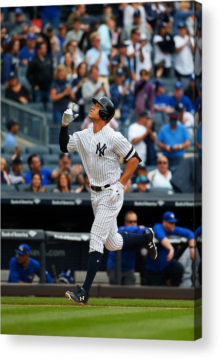 People Acrylic Print featuring the photograph Toronto Blue Jays v New York Yankees by Jim McIsaac