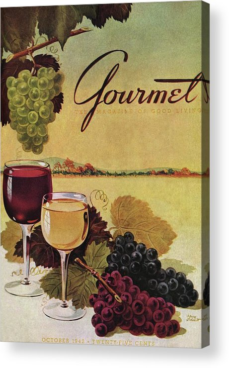 Exterior Acrylic Print featuring the photograph A Gourmet Cover Of Wine by Henry Stahlhut
