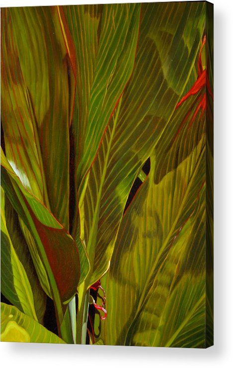 Plant Acrylic Print featuring the painting April by Thu Nguyen