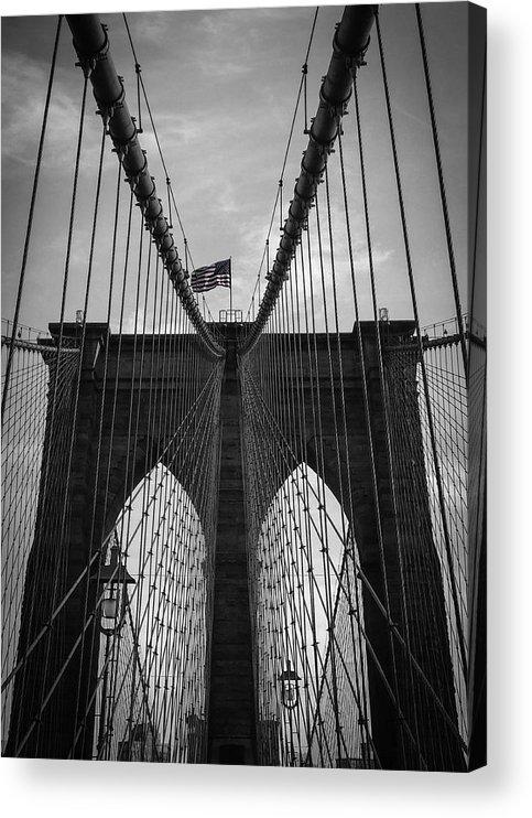 New York Acrylic Print featuring the photograph Brooklyn Bridge by Nicklas Gustafsson