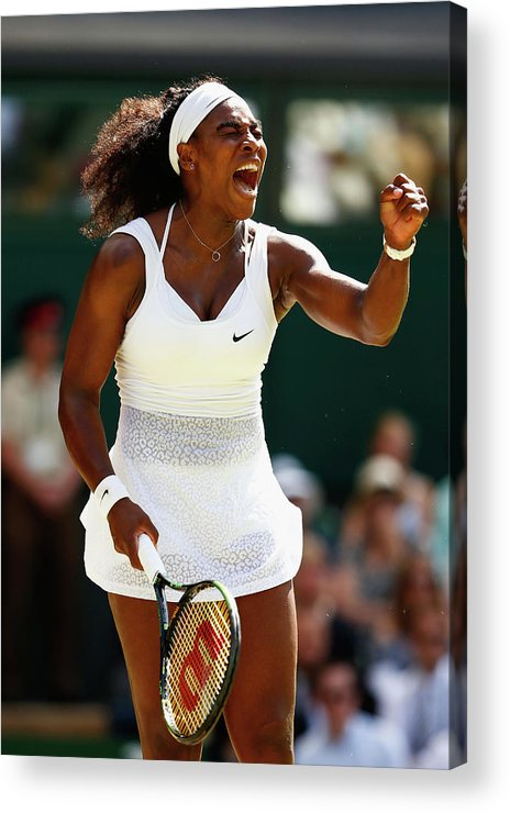 Serena Williams - Tennis Player Acrylic Print featuring the photograph Day Twelve The Championships - by Julian Finney