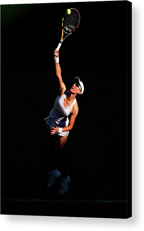 Zheng Saisai Acrylic Print featuring the photograph Day Two The Championships - Wimbledon by Shaun Botterill