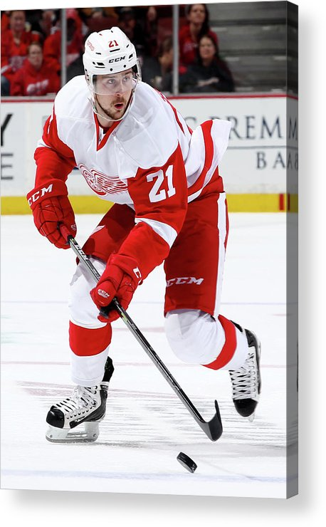 People Acrylic Print featuring the photograph Detroit Red Wings V Anaheim Ducks by Debora Robinson