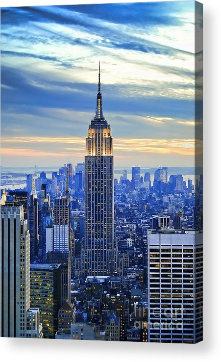 New York City Acrylic Print featuring the photograph Empire State Building New York City USA by Sabine Jacobs