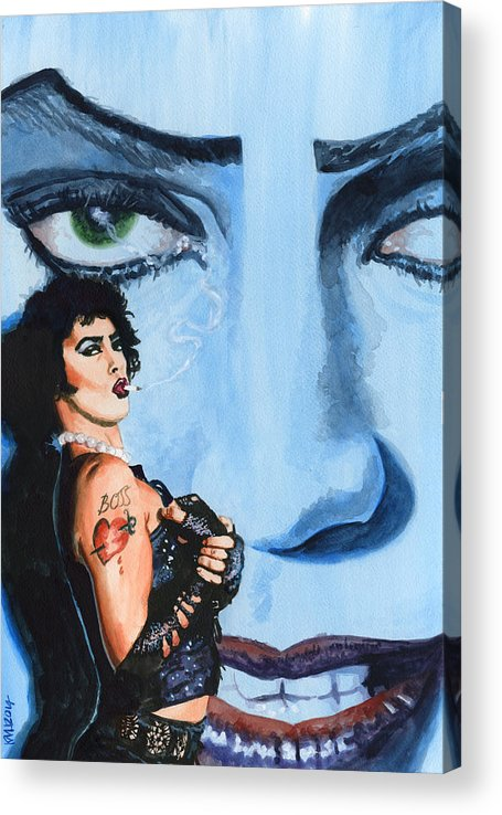Rocky Horror Picture Show Acrylic Print featuring the painting Franknfurter by Ken Meyer jr