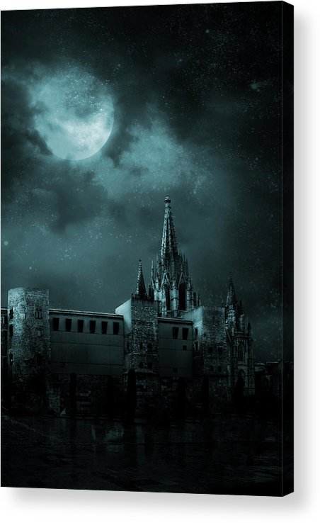 Gothic Style Acrylic Print featuring the photograph Ghosts In The Empty Town by Vladgans