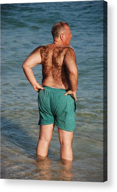 Man Acrylic Print featuring the photograph Hairy Ocean by Rob Hans