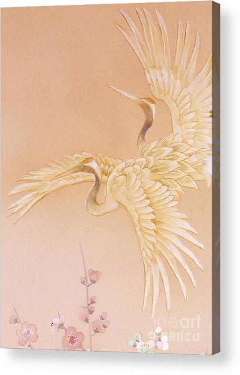 Haruyo Morita Acrylic Print featuring the digital art Kihaku Crop I by MGL Meiklejohn Graphics Licensing