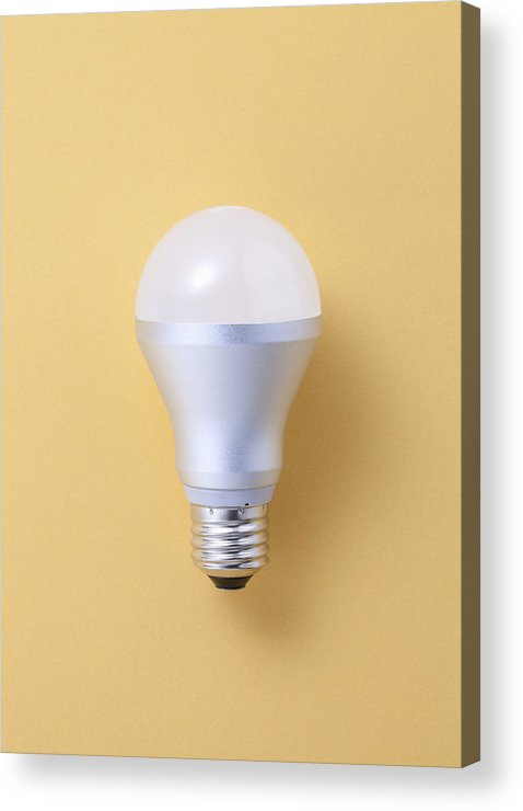 Environmental Conservation Acrylic Print featuring the photograph Led Bulb by Imagenavi