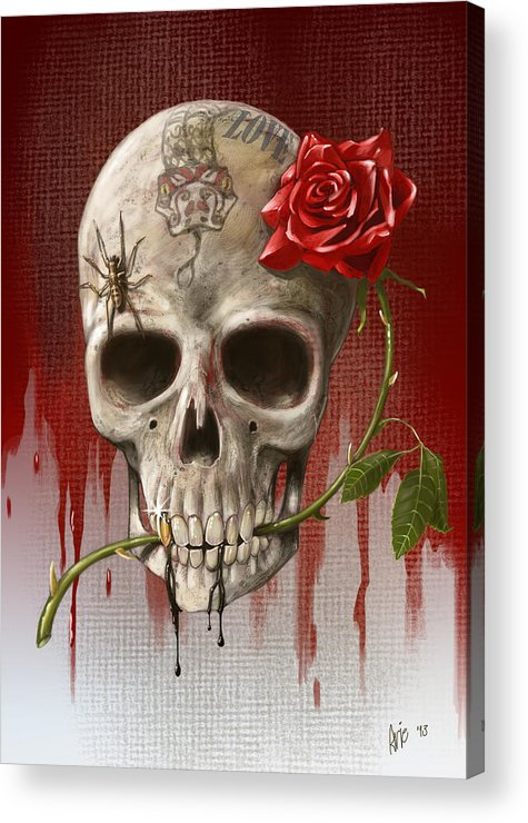 Love Acrylic Print featuring the painting Love by Arie Van der Wijst