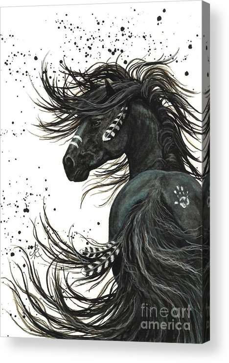 Mm65 Acrylic Print featuring the painting Majestic Spirit Horse I by AmyLyn Bihrle