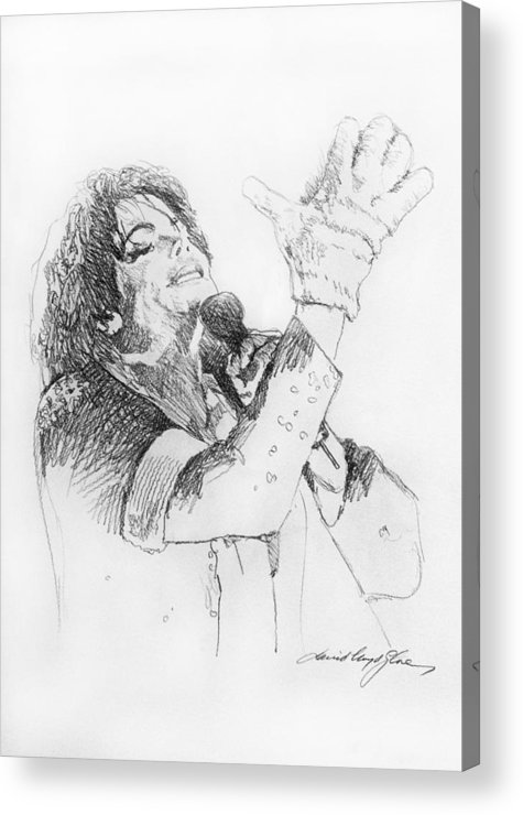Michael Jackson Acrylic Print featuring the painting Michael Jackson Passion Sketch by David Lloyd Glover