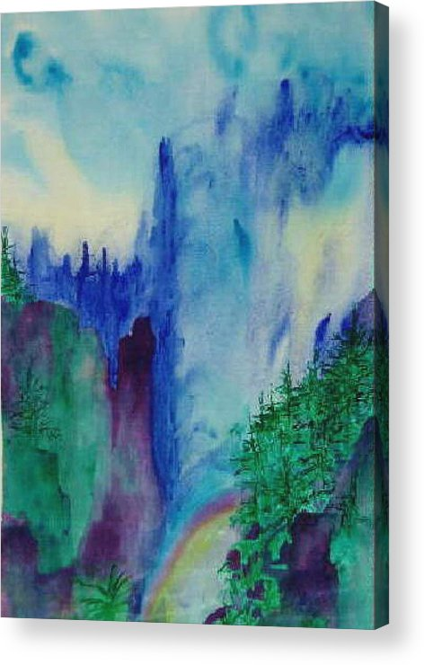 Impressionistic Acrylic Print featuring the painting Mist by Phoenix Simpson
