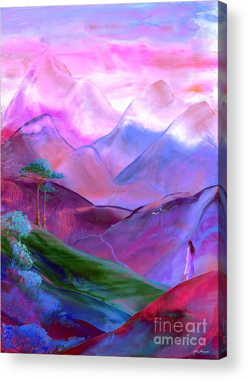 Meditation Acrylic Print featuring the painting Mountain Reverence by Jane Small