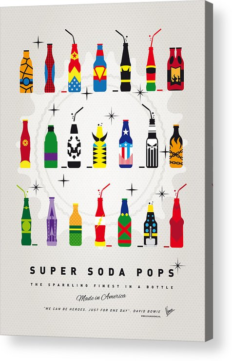 Icepops Acrylic Print featuring the digital art My SUPER SODA POPS No-00 by Chungkong Art