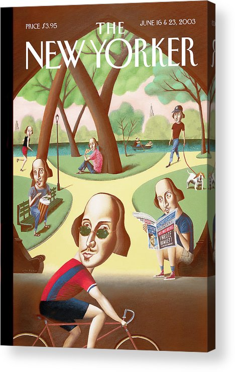 Mark Ulriksen Mul Acrylic Print featuring the painting Shakespeares in the Park by Mark Ulriksen