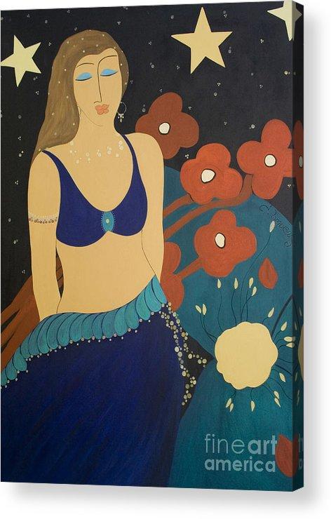 #stars Acrylic Print featuring the painting Nightfall by Jacquelinemari