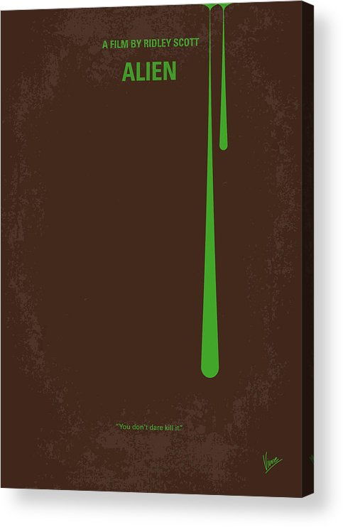 Alien Acrylic Print featuring the digital art No004 My Alien minimal movie poster by Chungkong Art