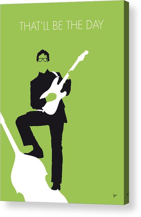 Buddy Acrylic Print featuring the digital art No056 MY BUDDY HOLLY Minimal Music poster by Chungkong Art