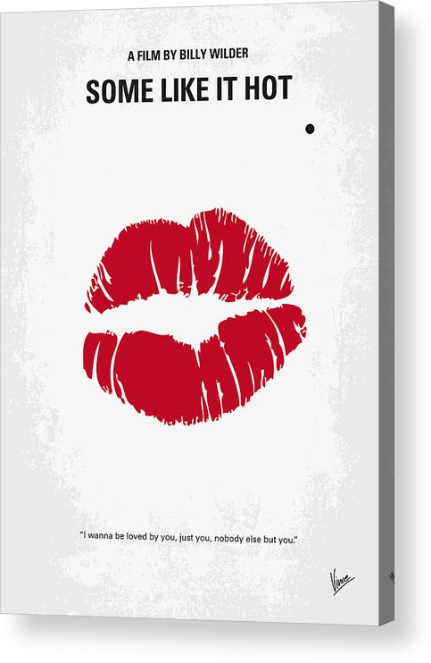 Some Acrylic Print featuring the digital art No116 My SOME LIKE IT HOT minimal movie poster by Chungkong Art