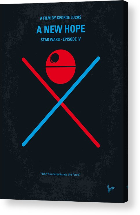 Star Acrylic Print featuring the digital art No154 My STAR WARS Episode IV A New Hope minimal movie poster by Chungkong Art