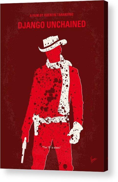 Django Acrylic Print featuring the digital art No184 My Django Unchained minimal movie poster by Chungkong Art