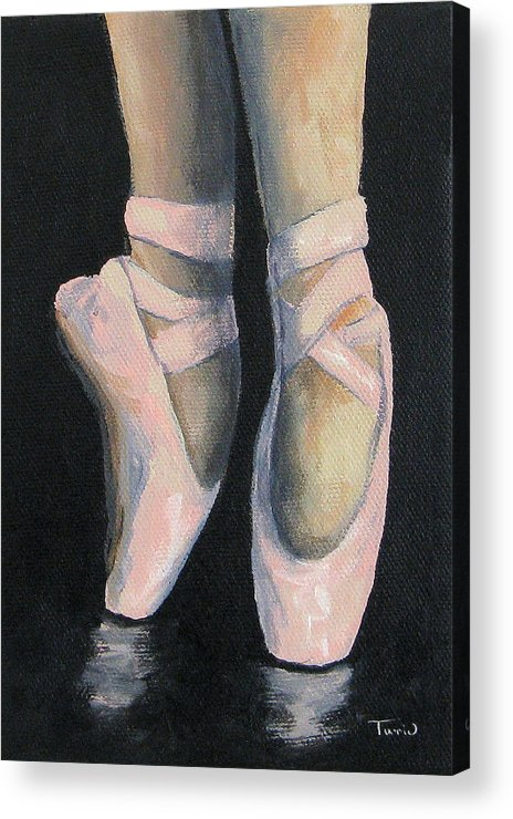 Ballet Acrylic Print featuring the painting On Point IV by Torrie Smiley