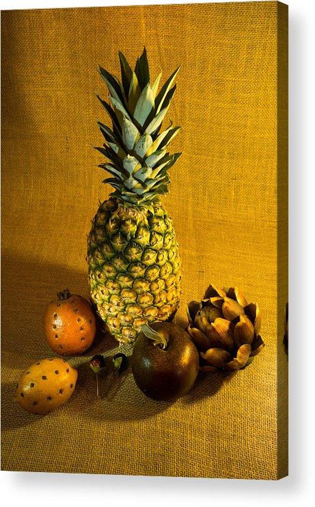 Pineapple Acrylic Print featuring the photograph Pineapple Still Life by Douglas Barnett