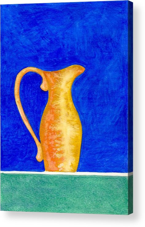 Still Life Acrylic Print featuring the painting Pitcher 2 by Micah Guenther