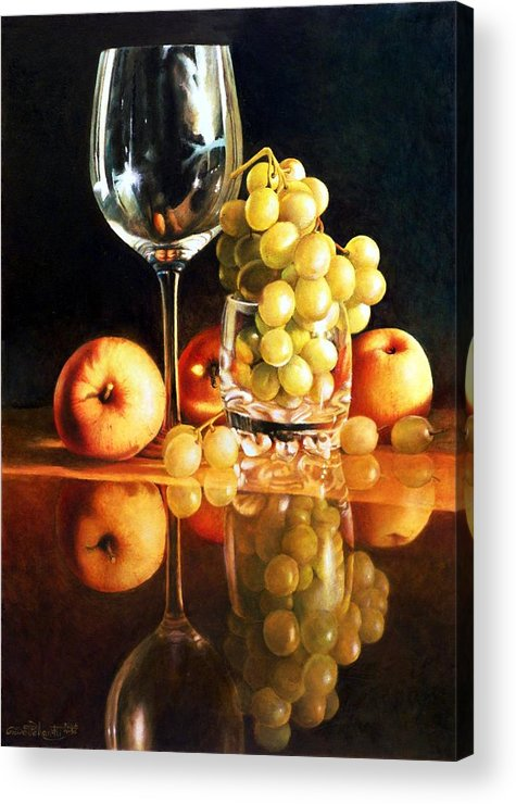 Giuseppe Mariotti Acrylic Print featuring the painting Reflections by Giuseppe Mariotti
